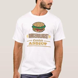 Amants drôles d'hamburger t-shirt