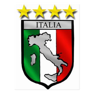 amants du football de carte de l Italie de drapeau Cartes Postales
