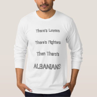 Amants et combattants albanais t-shirt