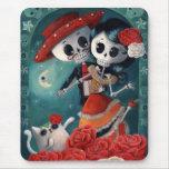 Amants mexicains squelettiques morts tapis de souris
