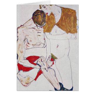 Amants par Egon Schiele Cartes