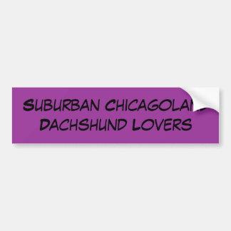 Amants suburbains de teckel de Chicagoland Autocollant De Voiture