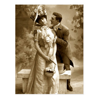 Amants vintages de la photographie 2 carte postale