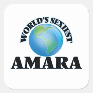 Amara le plus sexy du monde sticker carré