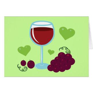 Amateur de vin carte de vœux