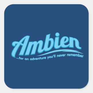Ambien : Pour une aventure vous ne vous Sticker Carré