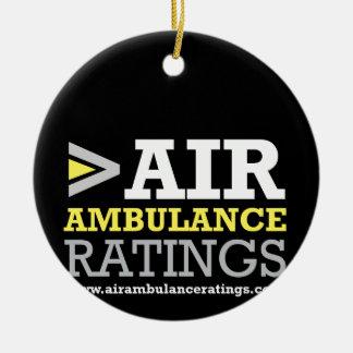 Ambulance aérienne et estimations de Medical Ornement Rond En Céramique
