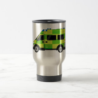 Ambulance de bande dessinée mug de voyage