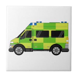 Ambulance de bande dessinée petit carreau carré