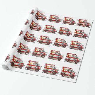 Ambulance de camion de boîte papier cadeau