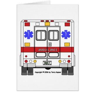 Ambulance de services médicaux de secours (SME) Carte De Vœux