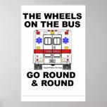 Ambulance de SME - les roues vont rond, affiche