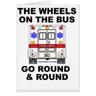 Ambulance de SME - roues sur l'autobus, carte
