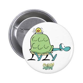 Ambulance de tortue de bandes dessinées de marais badges