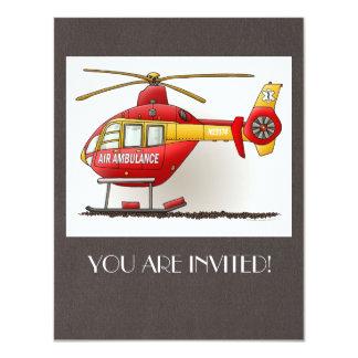 Ambulance d'hélicoptère carton d'invitation 10,79 cm x 13,97 cm