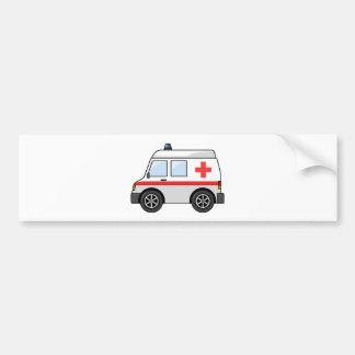 Ambulance rouge et blanche de bande dessinée adhésifs pour voiture