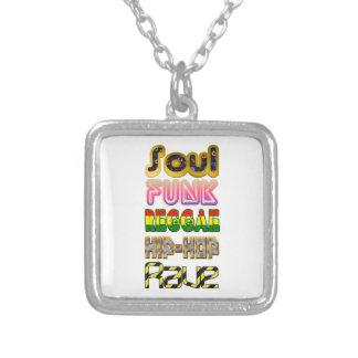 Âme, trouille, reggae, hip-hop, éloge pendentif carré