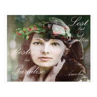 Amelia a perdu dans le paradis carte postale