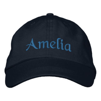 Amelia a personnalisé le bleu brodé de casquette casquette brodée
