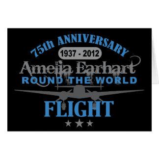 Amelia Earhart anniversaire de 75 ans Carte De Vœux