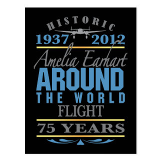 Amelia Earhart anniversaire de 75 ans Carte Postale