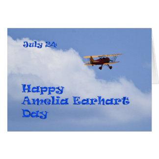 Amelia Earhart jour carte 24 juillet