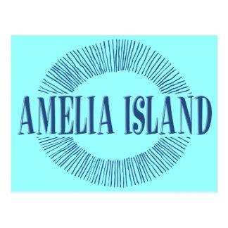 Amelia Island dans le bleu avec la conception du Carte Postale