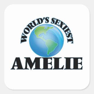 Amelie le plus sexy du monde autocollants carrés