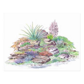 Aménagement alpin de jardin carte postale