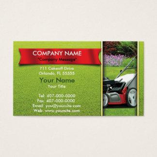 Aménagement du soin de pelouse de tondeuse à gazon cartes de visite