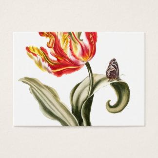 Aménagement floral d'aquarelle de la tulipe   de cartes de visite