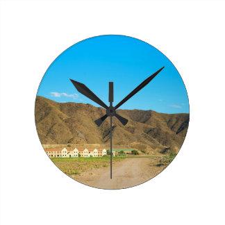 Aménagez le désert en parc à Almeria, Andalousie, Horloge Ronde