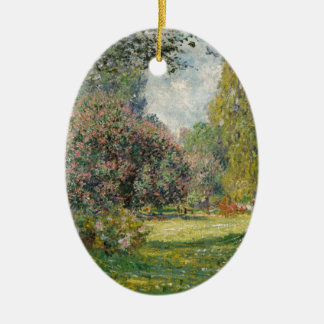 Aménagez le Parc Monceau - Claude Monet en parc Ornement Ovale En Céramique