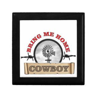 amenez-moi le cowboy de hojme petite boîte à bijoux carrée