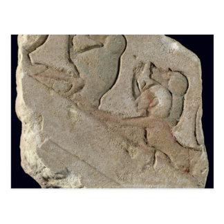 Amenophis IV avec des babouins, nouveau royaume Cartes Postales