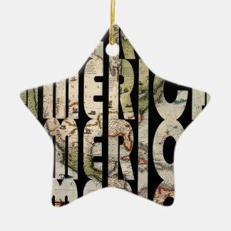 america1610 ornement étoile en céramique