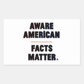Américain averti. Matière de faits. Autocollants