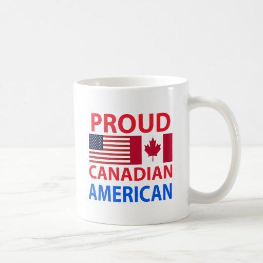 Américain canadien fier mugs