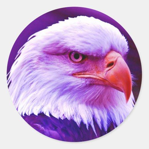 Américain chauve Eagle Adhésifs Ronds