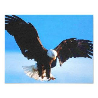 Américain chauve Eagle Carton D'invitation 10,79 Cm X 13,97 Cm