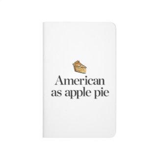 Américain comme tarte aux pommes carnet de poche