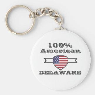 Américain de 100%, Delaware Porte-clé Rond