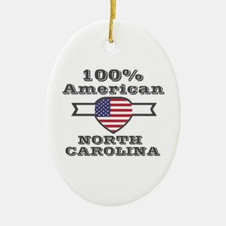 Américain de 100%, la Caroline du Nord Ornement Ovale En Céramique