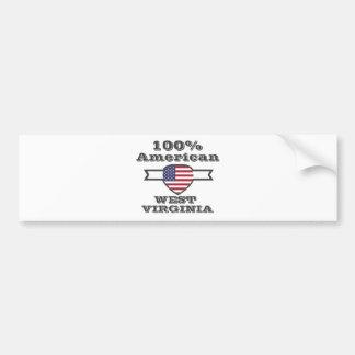 Américain de 100%, la Virginie Occidentale Autocollant Pour Voiture