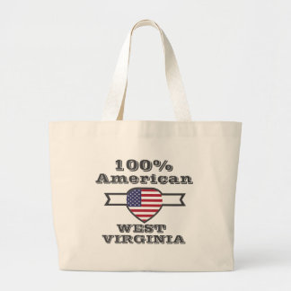 Américain de 100%, la Virginie Occidentale Grand Sac