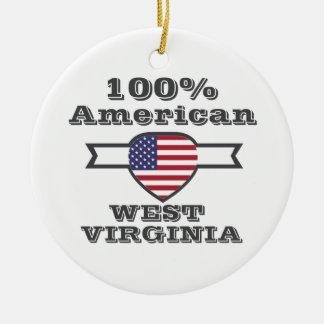 Américain de 100%, la Virginie Occidentale Ornement Rond En Céramique