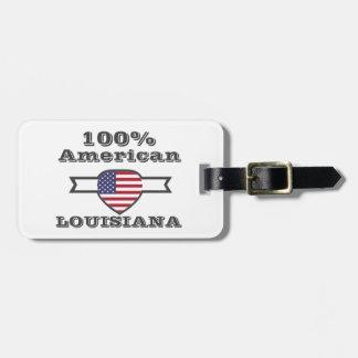 Américain de 100%, Louisiane Étiquette Pour Bagages