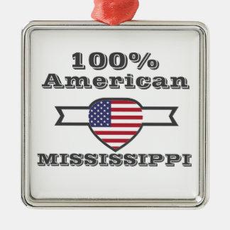 Américain de 100%, Mississippi Ornement Carré Argenté