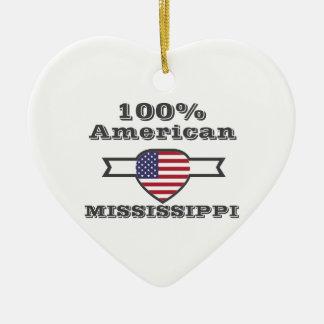 Américain de 100%, Mississippi Ornement Cœur En Céramique