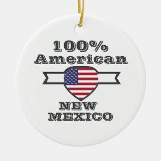 Américain de 100%, Nouveau Mexique Ornement Rond En Céramique